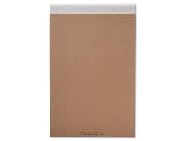 "Brown Kraft Peel & Stick Mailers, 14.25x20"", 200 Bulk Pack"