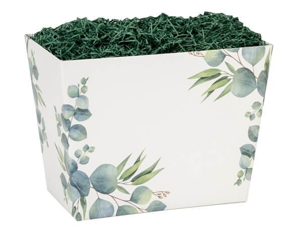 """*Large Eucalyptus Angled Basket Boxes 10-1/4x6x7-1/2"""""""