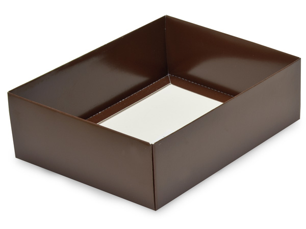 "Chocolate Large Folding Box Base, 6.5x4.75x2"", 50 Pack"