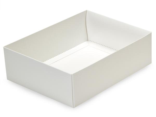 """White Large Folding Box Base, 6.5x4.75x2"""", 50 Pack"""