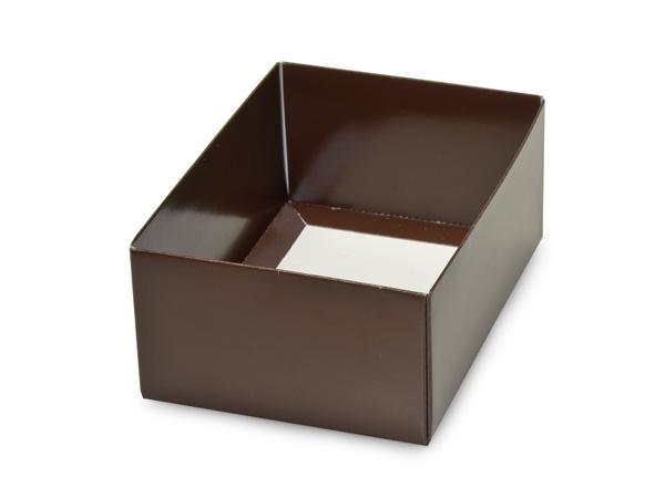 """Chocolate Small Folding Box Base, 4.75x3.25x2"""", 50 Pack"""