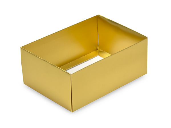 "Gold Small Folding Box Base, 4.75x3.25x2"", 50 Pack"