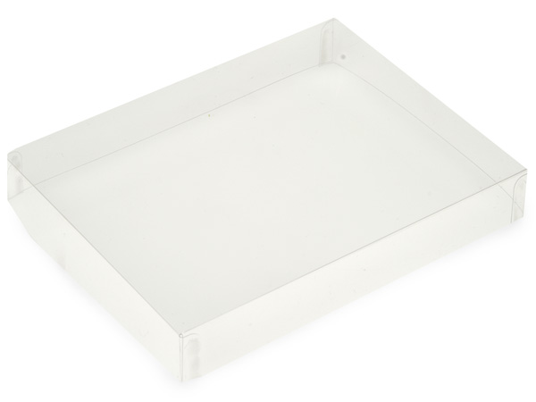 "Clear Large Folding Box Lid, 6.25x4.75x1"", 25 Pack"