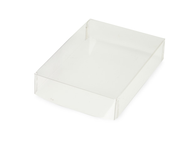 "Clear Small Folding Box Lid, 4.75x3.25x1"", 25 Pack"