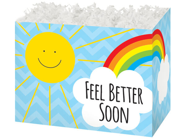Large Feel Better Sunshine Basket Boxes 10-1/4 x 6 x 7-1/2""