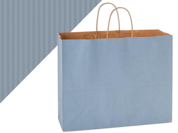 "Vogue French Blue Shadow Stripe Bag 25 Pk 16x6x13"""