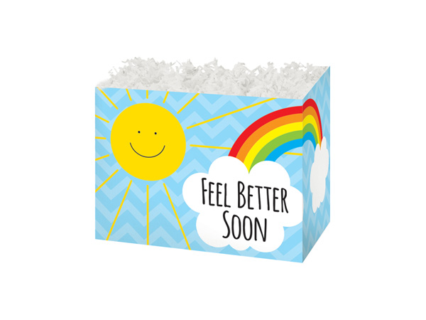 Small Feel Better Sunshine Basket Boxes 6-3/4 x 4 x 5""