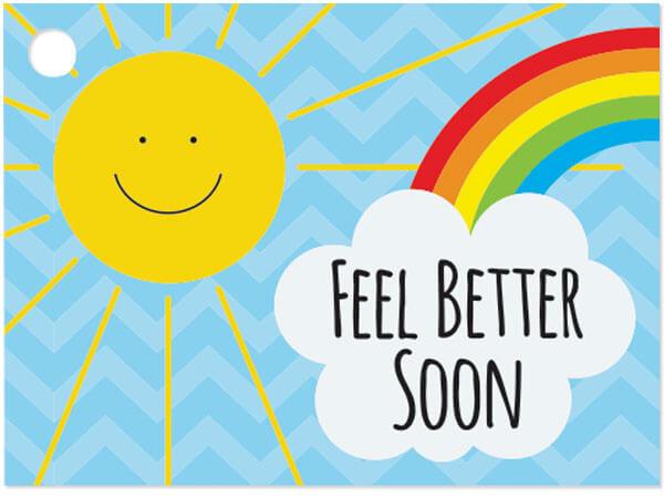 """Feel Better Sunshine 3-3/4 x 2-3/4"""" Theme Gift Card"""
