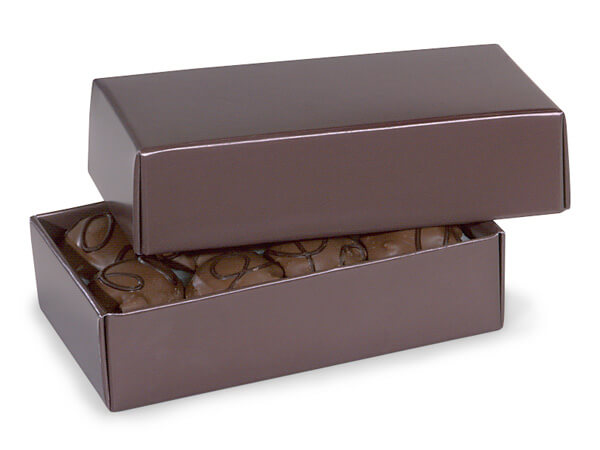 """**1/2 lb Chocolate Candy Boxes 2 Pc. 6-1/2x3-3/4x1-3/4"""""""