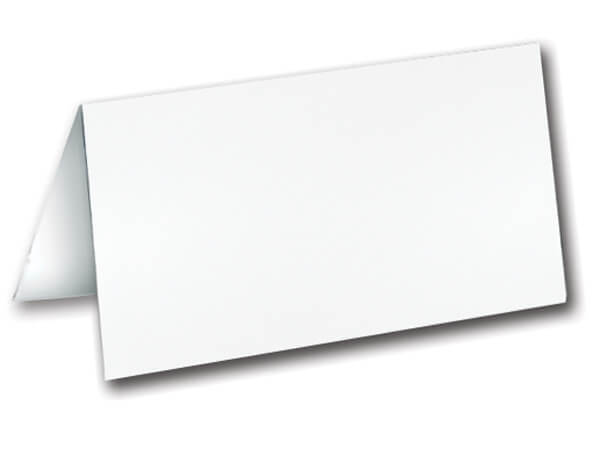 "Plain White Folding Gift Cards 3""x1-3/4"""
