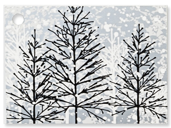 Frosted Forest Theme Gift Cards, 3.75x2.75, 6 Pack