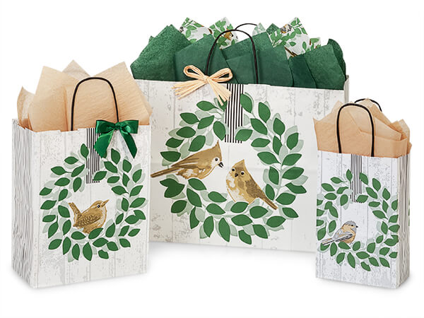 Farmhouse Birds Shopping Bags