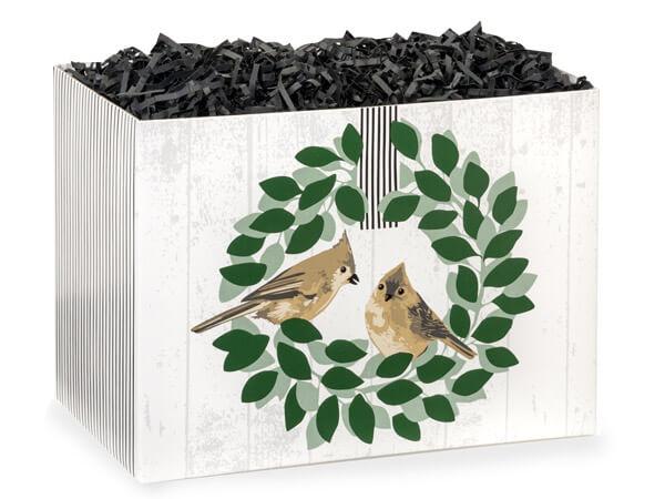 """Farmhouse Birds Basket Boxes, Large 10.25x6x7.5"""", 6 Pack"""