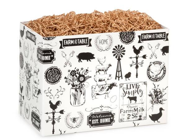 "Large Farmhouse Favorites Basket Boxes 10-1/4x6x7-1/2"""