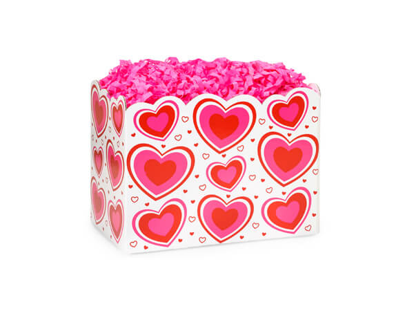 *Small Flirty Hearts Basket Boxes 6-3/4x4x5""