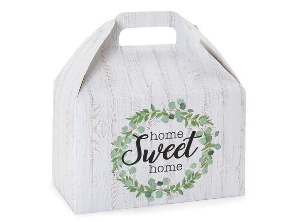 """Farmhouse Home Sweet Home Gable Box 8.5x5x5.5"""", Pack 6"""