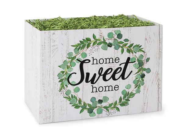 "Farmhouse Home Sweet Home Basket Box, Small 6.75x4x5"", 6 Pack"