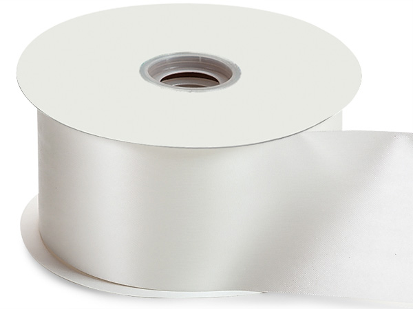 "White Flora Satin Ribbon 2-3/4""x100 yds"