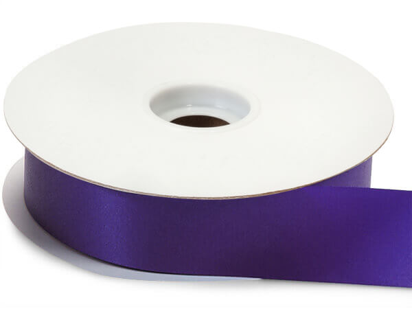 "Purple Flora Satin Ribbon 1-7/16""x100 yds"