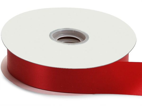 "Red Flora Satin Ribbon, 1-7/16""x100 yards"
