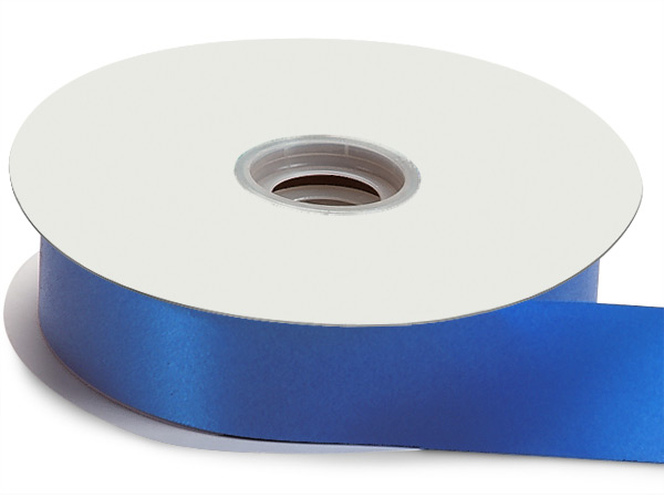 "Royal Blue Flora Satin Ribbon 1-7/16""x100 yds"