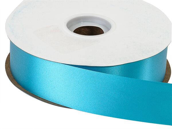 "Turquoise Flora Satin Ribbon 1-7/16""x100 yds"