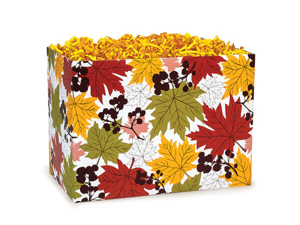 Small Falling Leaves Basket Boxes 6-3/4x4x5""