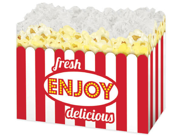 Large Fresh Popcorn Basket Boxes 10-1/4x6x7-1/2""