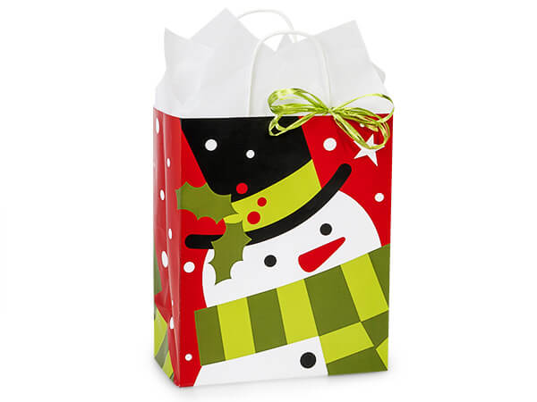 """Cub Frosted Snowman Bags 25 8-1/4x4-3/4x10-1/2"""""""