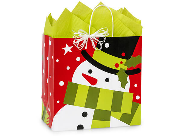 Filly Frosted Snowman Bags 25 13x7x13""