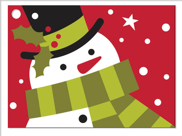 Frosted Snowman Gift Cards 3-3/4x2-3/4""