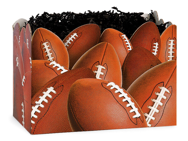 "Football Basket Boxes, Large 10.25x6x7.5"", 6 Pack"