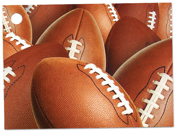 Football Theme Gift Cards 3-3/4x2-3/4""