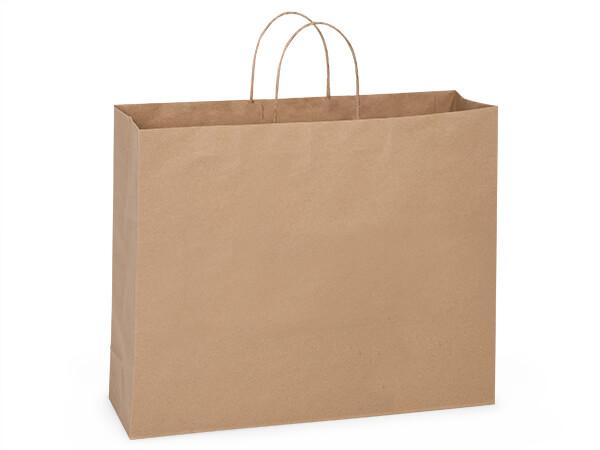 """Turn Top Vogue Brown Kraft Bags, 16x6x12"""", 200 pack"""