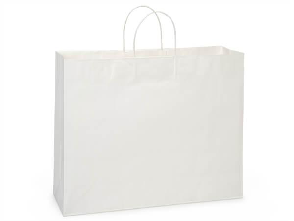 "Turn Top Vogue White Kraft Bags, Vogue 16x6x12"", 200 pack"