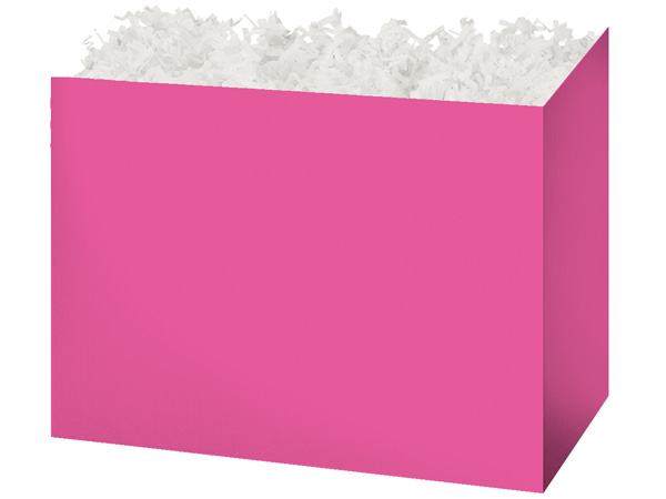Large Solid Fuchsia Basket Boxes 10-1/4x6x7-1/2""