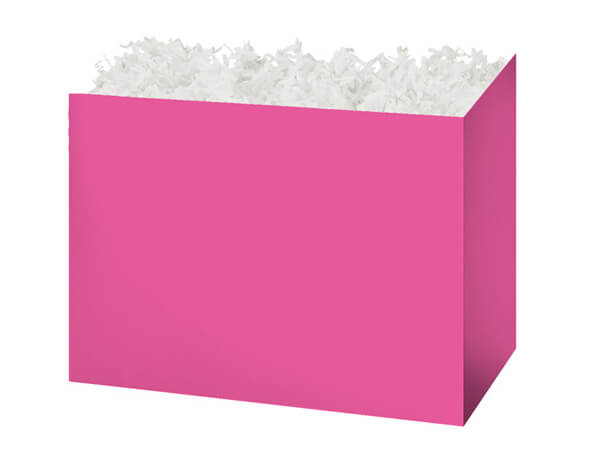 Medium Solid Fuchsia Basket Boxes 8-1/4x4-3/4x6-1/4""