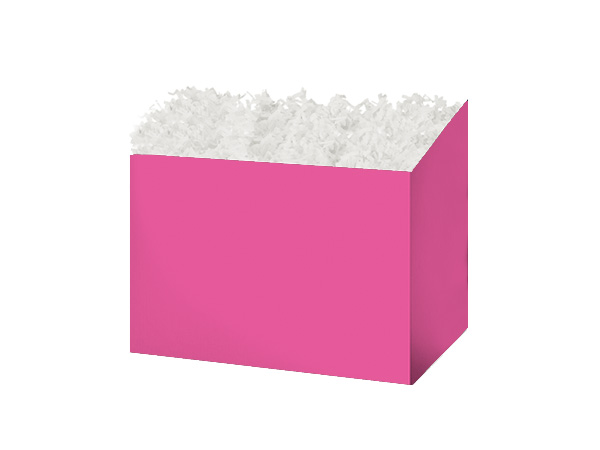 "Small Solid Fuchsia Basket Boxes 6-3/4x4x5"""