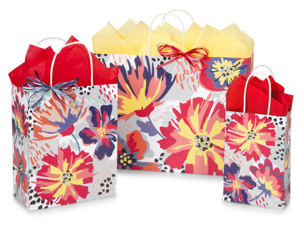 Flowerworks Paper Shopping Bags