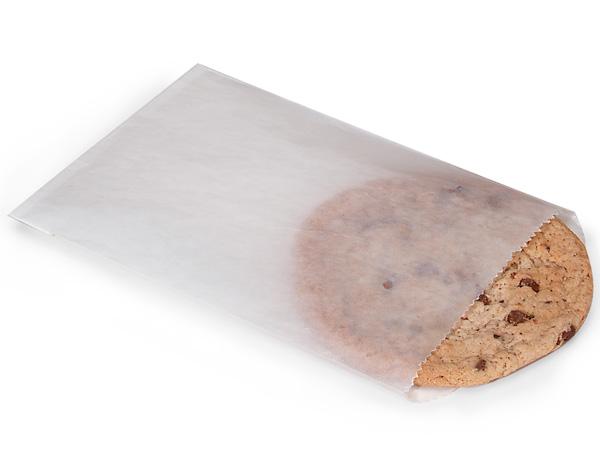 "1/2 lb Glassine Bags Translucent 4.75 x 6.75"", 100 Pack"