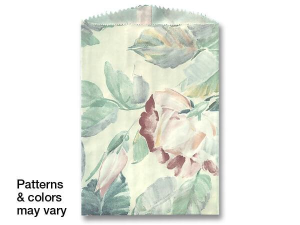 "6-1/4x9-1/4"" Random Design Reclaimed Paper Merchandise Bags"