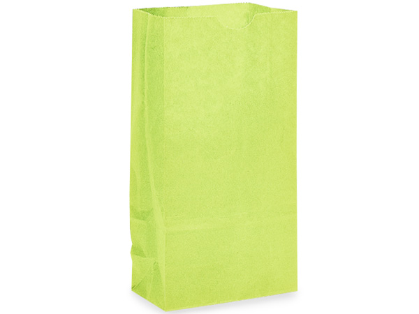 "Lime Green 12 lb Gift Sacks, 7x4.25x13.75"", 500 Pack"