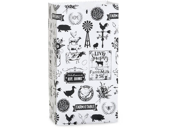 "Farmhouse Favorites Gift Sack, 12 lb Bag 7x4.25x13.75"", 50 Pack"