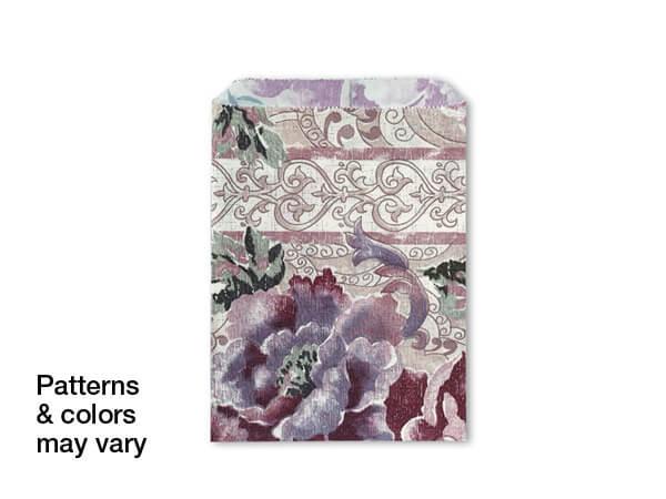 "7-1/2x10-1/2"" Random Design Reclaimed Paper Merchandise Bags"