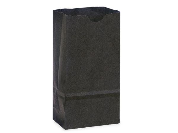 "Black 2 lb Gift Sacks, 4.25x2.25x8"", 500 Pack"