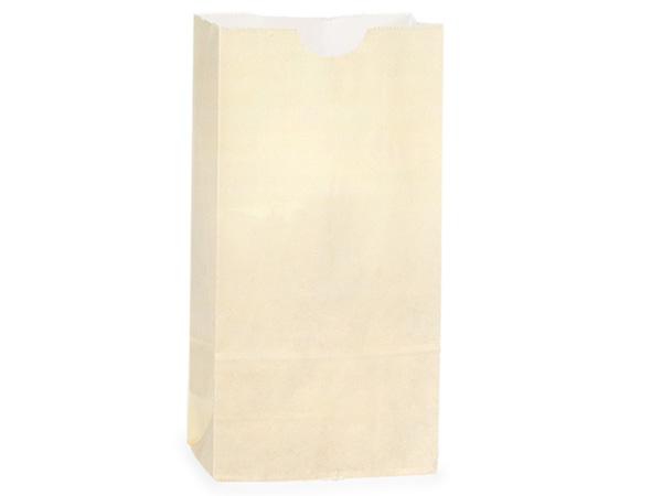 "Cream 2 lb Gift Sacks, 4.25x2.25x8"", 500 Pack"