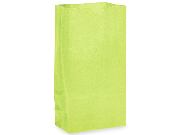 "Lime Green 2 lb Gift Sacks, 4-1/4x2-3/8x8-3/16"", 500 Pack"