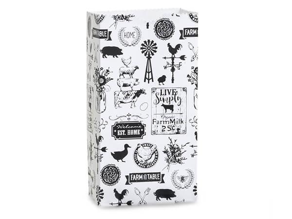 "Farmhouse Favorites Gift Sack, 2 lb Bag 4.25x2.25x8"", 50 Pack"