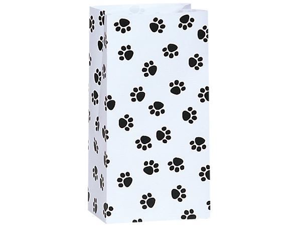 """Paw Print Gift Sack, 2 lb Bag 4.25x2.25x8"""", 50 Pack"""