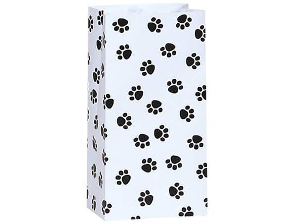 """Paw Print Gift Sack, 2 lb Bag 4.25x2.25x8"""", 250 Pack"""